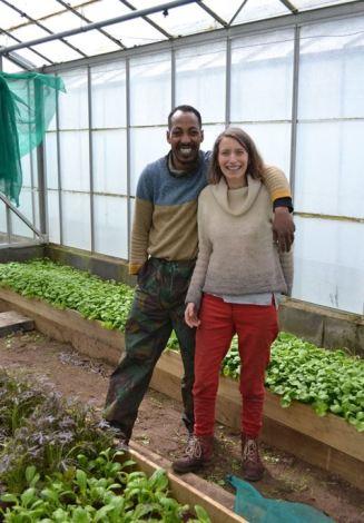 Sophie and fissha Cardiff Salad garden