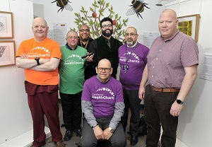 CHARITY HEAD SHAVE FOR UNISON / ORCHARD PROJECT / HEALTH CHARITY